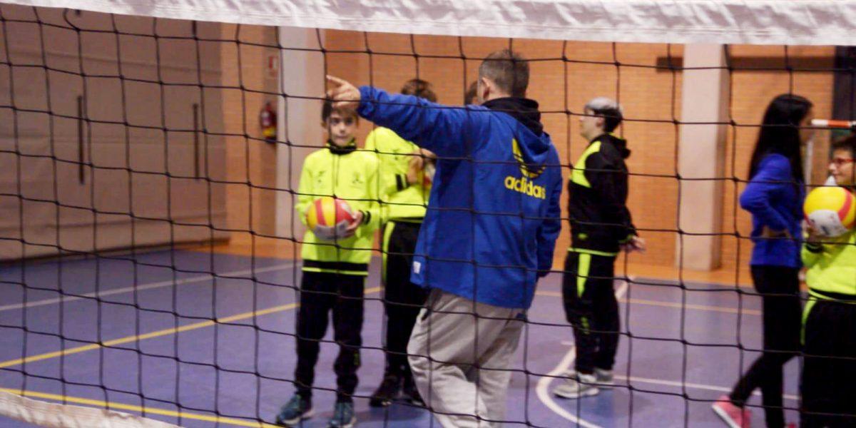 Entrenamiento conjunto con el Valladolid Club Voleibol