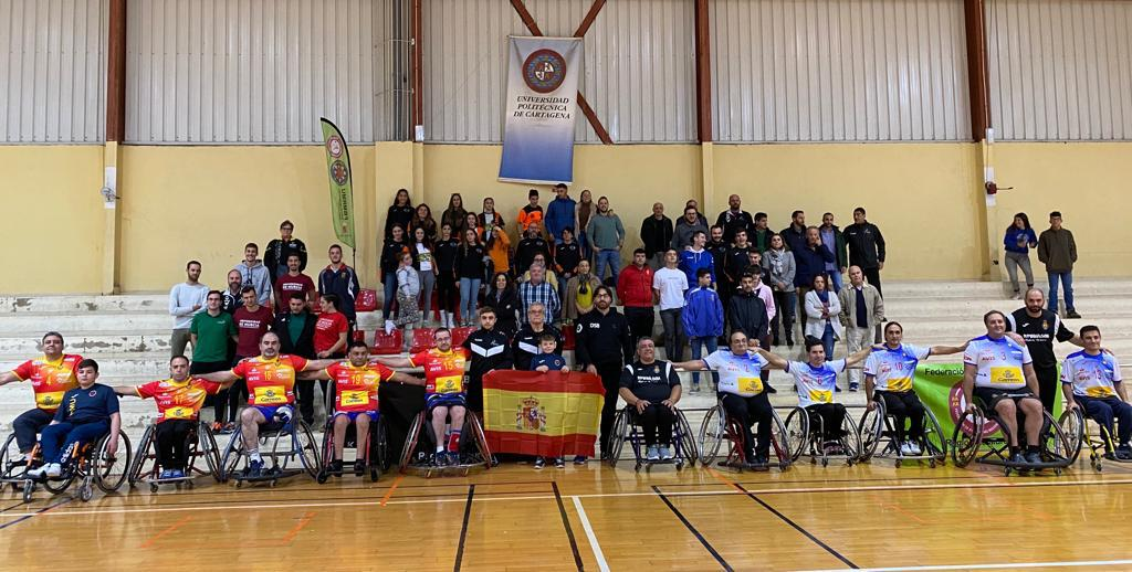 En el debut del equipo nacional en silla de ruedas